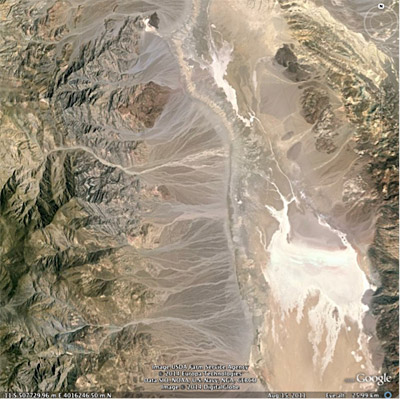 Figure 4.4: Alluvial fans in Death Valley, California.