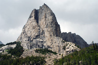 Figure 2.18: Cathedral Peak in the Wind River Range, Wyoming, is composed of Archean-aged granitic gneiss.