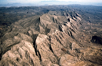 Figure 4.23: El Solitario in Big Bend Ranch State Park, the eroded remains of an uplifted granitic igneous intrusion.