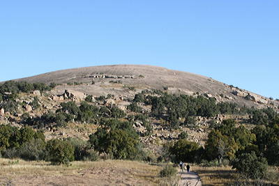 Figure 2.20: Enchanted Rock stretches across 260 hectares (640 acres) and rises approximately 130 meters (425 feet) above the surrounding landscape.