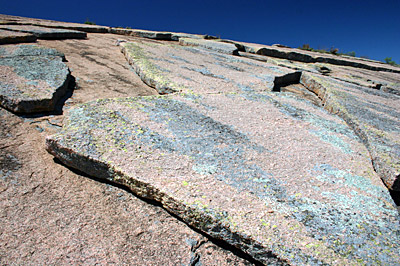 Figure 2.23: Exfoliation joints on a granite dome in Enchanted Rock State Natural Area.