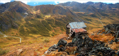 Figure 5.17: An old mining cabin in Hatcher Pass, Alaska, the home of Independence Mine. The first mining claims in this area were staked in 1906.