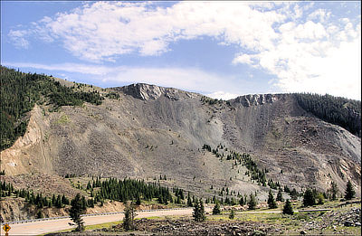 Figure 10.11: Damage from the Hebgen Lake Landslide is still visible today in Madison Valley, Montana.