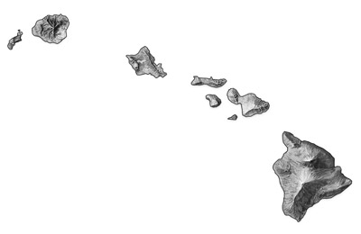 Figure 4.16: Digital relief map of Hawaiʻi.