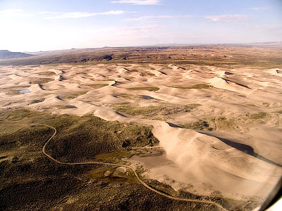Figure 4.29: An aerial view of the Killpecker Sand Dunes in Wyoming.