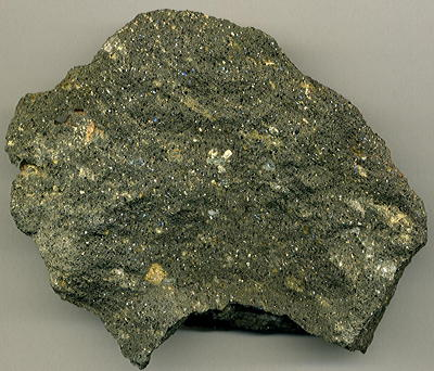 Figure 5.8: A piece of lamproite containing abundant mica flakes.