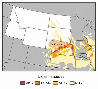 Figure 8.13: Loess deposits in the Northwest Central and surrounding states.