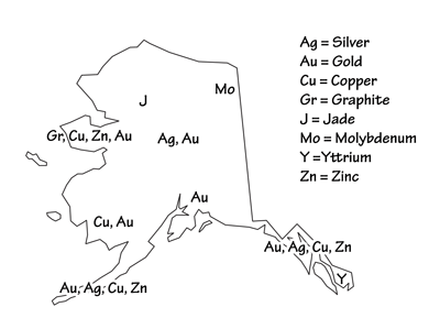 Figure 5.12: Mineral resources of Alaska.