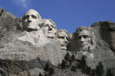 Figure 2.5: Mt. Rushmore, carved from the Harney Peak granite.