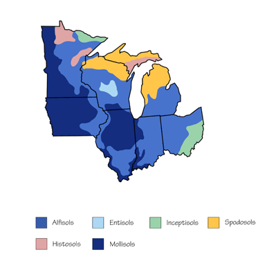 Figure 8.5: Soil map of the Midwest.