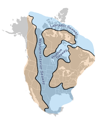 Figure 9.7: The Western Interior Seaway.