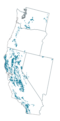 Figure 8.5: Alfisols of the contiguous Western US.