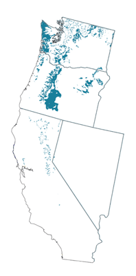 Figure 8.6: Andisols of the contiguous Western US.