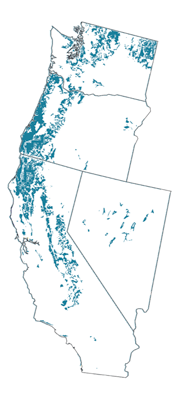 Figure 8.8: Inceptisols of the contiguous Western US.