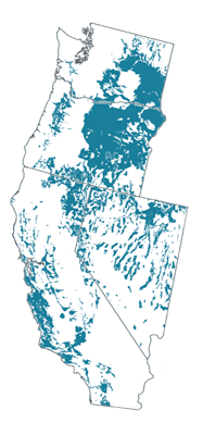 Figure 8.9: Mollisols of the contiguous Western US.
